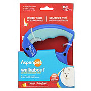 Petmate Small Aspen Pet Walkabout Retractable Leash blue