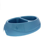 Petmate Ultra 2.5 Cup Double Diner Pet Dish Blue