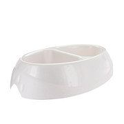 Petmate Ultra 2.5 Cup Double Diner Pet Dish White
