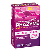 Phazyme Anti-Gas Simethicone 250mg Maximum Strength Fast Gels