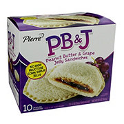 Pierre Drive Thru Peanut Butter And Grape Jelly Sandwiches