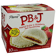 Pierre Peanut Butter And Strawberry Jam Sandwiches