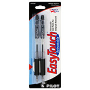 Pilot Easy Touch Retractable Medium Black Ball Point Pens