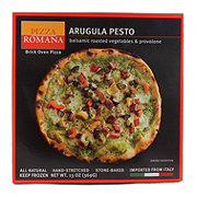 Pizza Romana Arugula Pesto with Balsamic Roasted Vegetables & Provolone