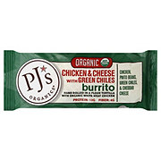 PJs Organics Chicken & Cheese With Green Chiles Burrito