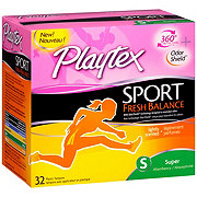 Playtex Sport Fresh Balance Super Absorbency Scented Tampons