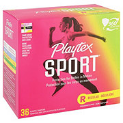 Playtex Sport Plastic Regular Absorbency Unscented Tampons
