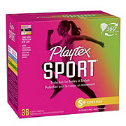 Playtex Sport Plastic Super Plus Absorbency Unscented Tampons