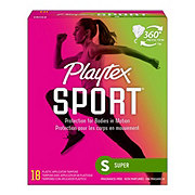 Playtex Sport Super Absorbency Unscented Tampons