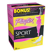 Playtex Sport Ultra Thin Qwik-dry Pads Regular