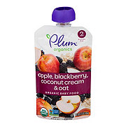 Plum Organics 2nd Stage Apple Blackberry Coconut Cream & Oat