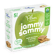 Plum Organics Apple Cinnamon & Oatmeal Jammy Sammy