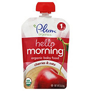 Plum Organics Hello Morning Baby Food, Cherries & Oats