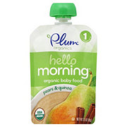 Plum Organics Hello Morning Baby Food, Pears & Quinoa
