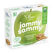 Plum Organics Kids Jammy Sammy Apple Cinnamon & Oatmeal Snack Size Sandwich Bar