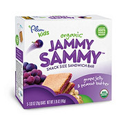 Plum Organics Kids Jammy Sammy Grape Jelly & Peanut Butter Snack Size Sandwich Bar