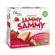 Plum Organics Kids Jammy Sammy Strawberry Jam & Peanut Butter Snack Size Sandwich Bar
