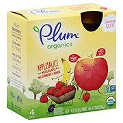 Plum Organics Mashups Applesauce with Strawberry & Banana Pouches
