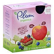 Plum Organics Mashups Applesauce with Strawberry Blackberry Blueberry Pouches