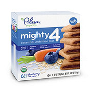 Plum Organics Mighty 4 Blueberry with Carrot Nutrition Bar