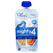 Plum Organics Mighty 4 Sweet Potato, Blueberry, Millet and Greek Yogurt Baby Food