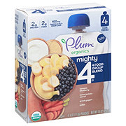 Plum Organics Mighty 4 Sweet Potato, Blueberry, Millet & Greek Yogurt 4 pk