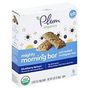 Plum Organics Mighty Morning Blueberry Lemon Bar