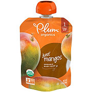 Plum Organics Stage 1 Just Mangos Baby Food