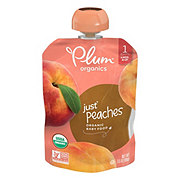 Plum Organics Stage 1 Just Peaches Baby Food