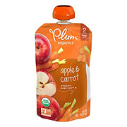 Plum Organics Stage 2 Apple and Carrot Baby Food