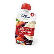 Plum Organics Stage 2 Baby Food, Apple Raisin & Quinoa