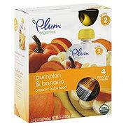 Plum Organics Stage 2 Organic Baby Food, Pumpkin & Banana