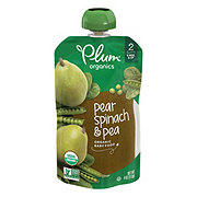 Plum Organics Stage 2 Spinach Peas & Pear Baby Food