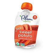 Plum Organics Yum Stage 1 Just Sweet Potato Baby Food