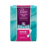 Poise Maximum Absorbency Unscented Regular Ultra Thin Pads