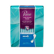 Poise Moderate Absorbency Unscented Regular Ultra Thin Pads
