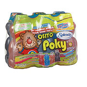 Poky Assorted Flavor Fruit Drinks with Splenda 8.45 oz Bottles