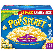 Pop Secret Movie Theater Butter Microwave Popcorn Family Size