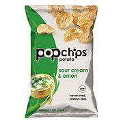 Popchips Potato Sour Cream and Onion Potato Snacks