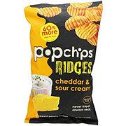 Popchips Ridges Cheddar & Sour Cream Potato Snacks