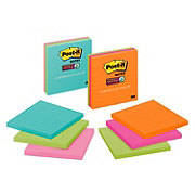 Post-it Super Sticky Lined Note Pads Assorted Colors