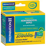 Preparation H Flushable Medicated Hemorrhoidal Wipes Max Strength Relief