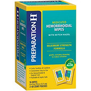Preparation H Maximum Strength Formula Medicated Wipes with Aloe