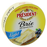 President Brie Light Soft-Ripened Cheese