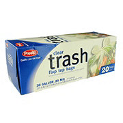 Presto Clear 30 Gallon Large Trash Bags With Twist Ties