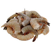 Previously Frozen Raw Gulf White Shrimp Shell-On, Wild Caught