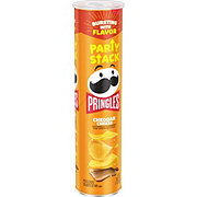 Pringles Mega Stack Cheddar Cheese Potato Crisps