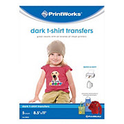 PrintWorks Dark T-shirt Transfers