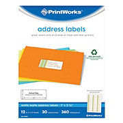 PrintWorks White Matte Address Labels, 1x2.6 in