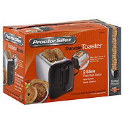 Proctor Silex Black & Chrome Durable Toaster 2-Slice Cool-Wall Sides